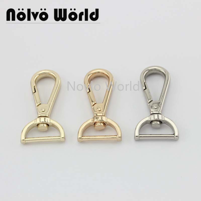 "6pieces test, 47*18.8mm 3/4"" small quantity bags purse accessories, suitcase or handbag strap chain swivel clasps()"