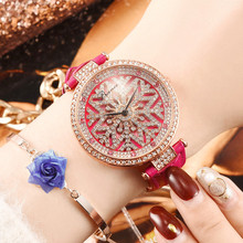 Luxury Waterproof Quartz Watch Women Female Fashion Rotating Dial Watch Snowflake Diamond Relogio Feminino Dropshipping 2019 все цены