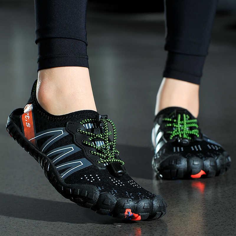 Unisex Sneakers su ayakkabısı Erkekler Yalınayak Açık plaj sandaletleri Yukarı Aqua Ayakkabı Hızlı Kuru Nehir Deniz Dalış Yüzme Büyük Boy