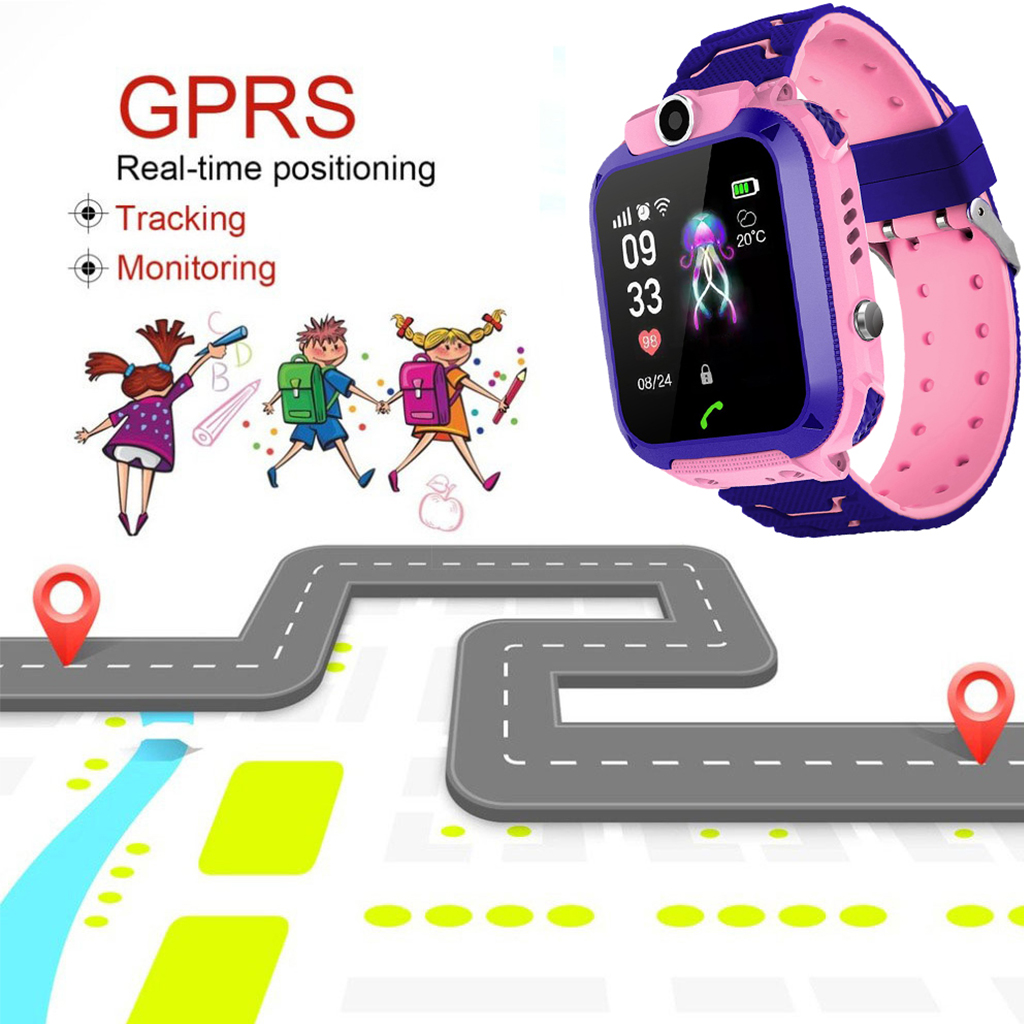 Image 4 - DS88 Kids Smart Watch Children Phone Watch IXP7 Waterproof SOS Call Monitor Touch Screen Anti Lost School Student Smart Watch-in Smart Watches from Consumer Electronics