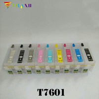 T7601 T7609 Refillable Ink Cartridge For Epson P600 Surecolor SC P600 Printer With Auto Reset Chips