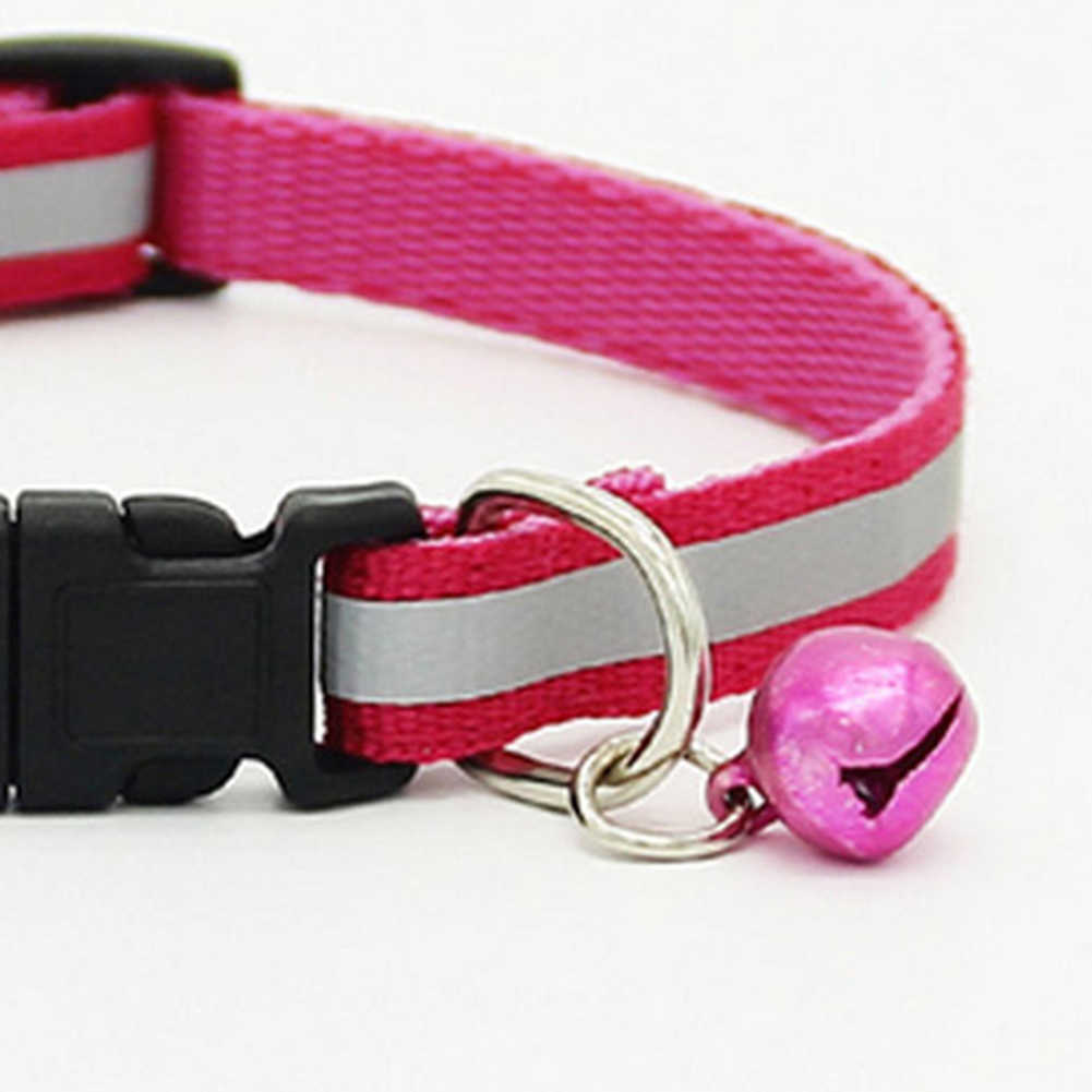 1pc 調整可能なペットの猫犬子犬反射首輪安全バックルベルネックストラップ犬用品猫の首輪ペット用品製品