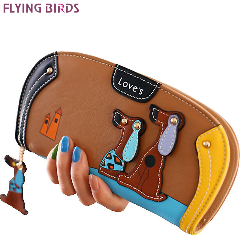 FLYING BIRDS!women leather wallets dollar price women's purse 2016 new card holder coin purse summer style bag ladies LM3091fb 2016 new arrive pvc and pu leather purse american marvel comic deadpool wallet with card holder dollar price free shipping