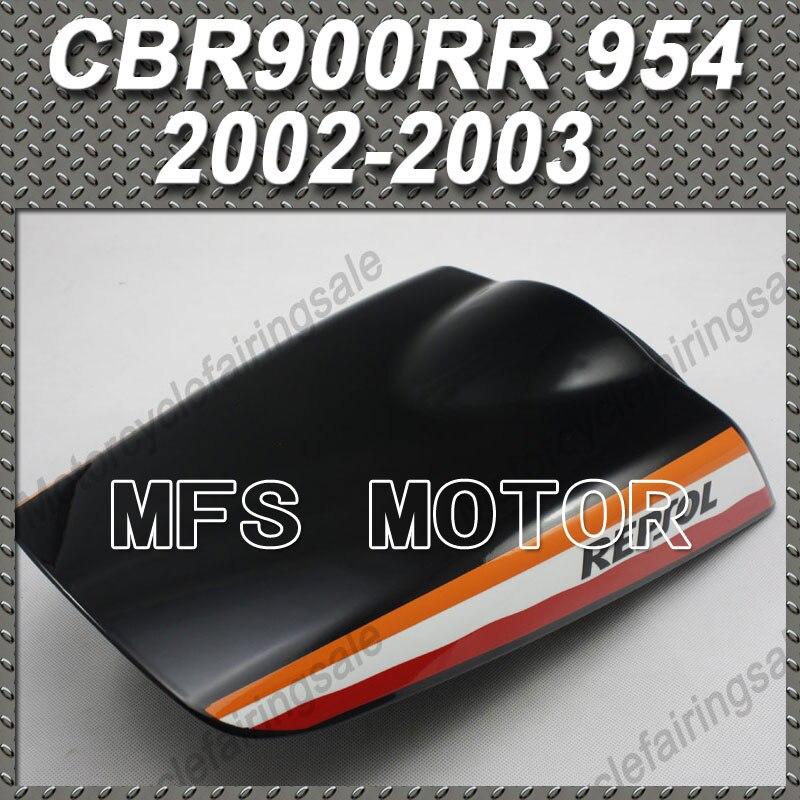 New Motorcycle Rear Pillion Black Seat Cowl Cover For Honda CBR900RR 954 CBR 900 RR 954 2002 2003 Repsol