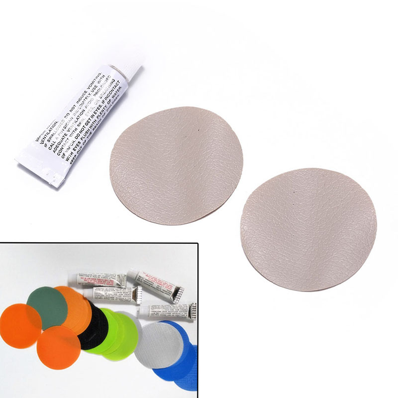 New Swimming PVC Adhesive Inflatable Repair Glue Tube Patch Kit For Boat Pool Yoga Ball Swim Ring Toys With 2 Circular Patch