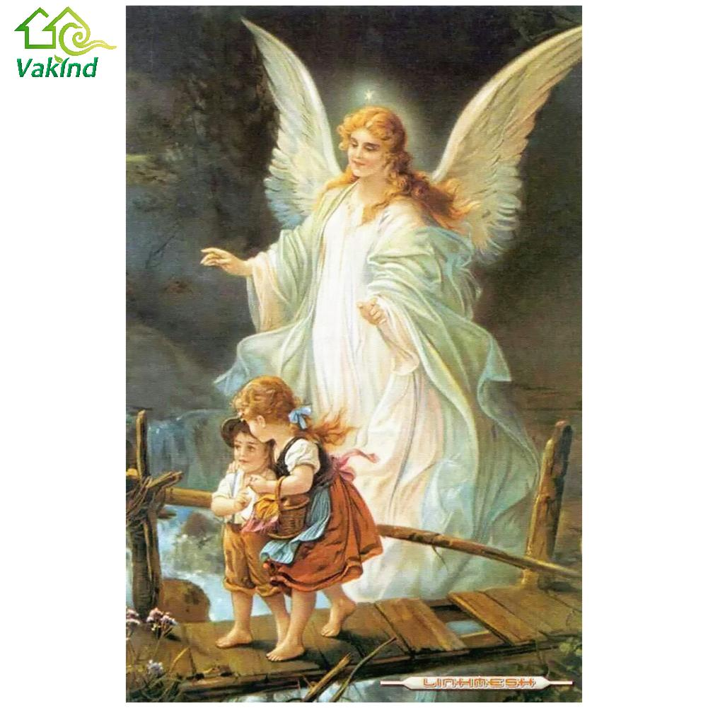 50*65cm Guardian Angel 5D DIY Diamond Embroidery Painting Rhinestone Diamond Painting Craft Home Decor Cross Stitch Kit