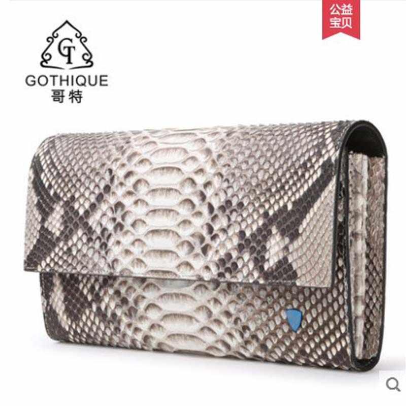9adca9a24e85 Гете 2019 импортируется из кожи питона женская сумка натуральная кожа  Сумочка Кошелек Банкетный большая емкость женская