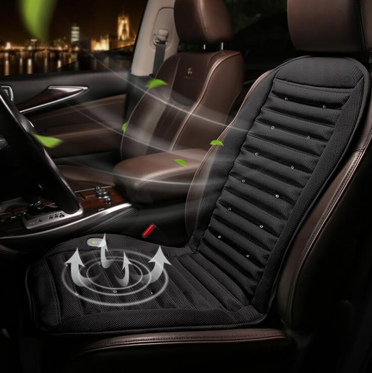 12V/24V Cool Fan Car Seat Covers Universal Fit SUV sedans Chair Pad Cushion with Motor driving summer ventilation strip Wh