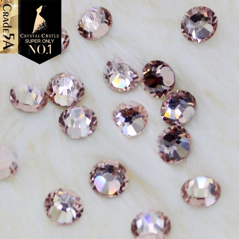 Crystal Castle AAAAA Glass Strass Stones Light Peach Burgundy White ... 15f53b6bc88e