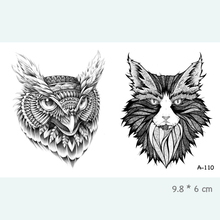 Eagle Cat Waterproof Temporary Tattoo Stickers For Adults Kids Body Art Fake Tatoo For Women Men Tattoos A-110