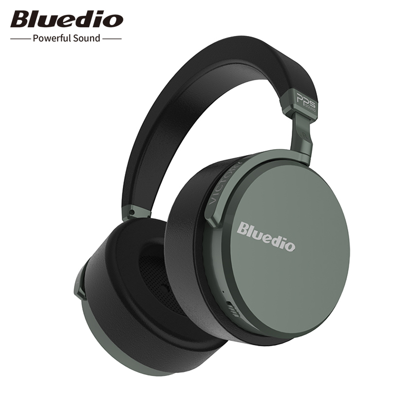 все цены на 2018 Bluedio V2 Bluetooth headphones PPS12 drivers with microphone high-end headphone Wireless headset for phone and music онлайн