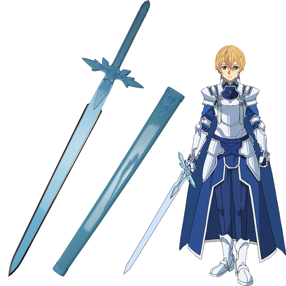 Sword Art Online Sao Eugeo Blue Rose Cosplay Sword Japanese Anime Game Katana Carbon Steel Aliexpress