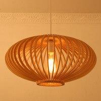 Бамбук E27 деревянный pednant лампа фонарь Ресторан личность Юго Восточной чайхана Китайский подвесной светильник ZA925705
