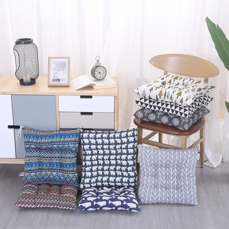 Outdoor garden courtyard home kitchen office simple modern geometric sofa chair seat cushion pad cotton