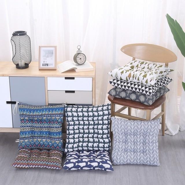 Outdoor garden courtyard home kitchen office simple modern geometric sofa chair seat cushion pad cotton