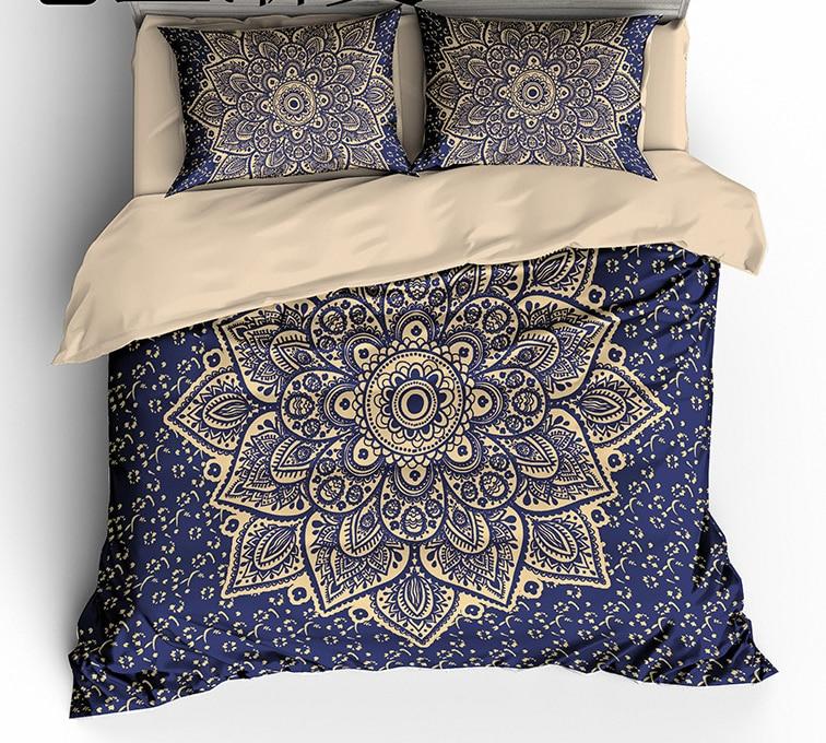 Ms.O Mandala Geometric Ethnic Vanitas Full Twin Queen King Size Morocco Indian Bedding Set Bohemian Duvet Cover Set Bed Linen
