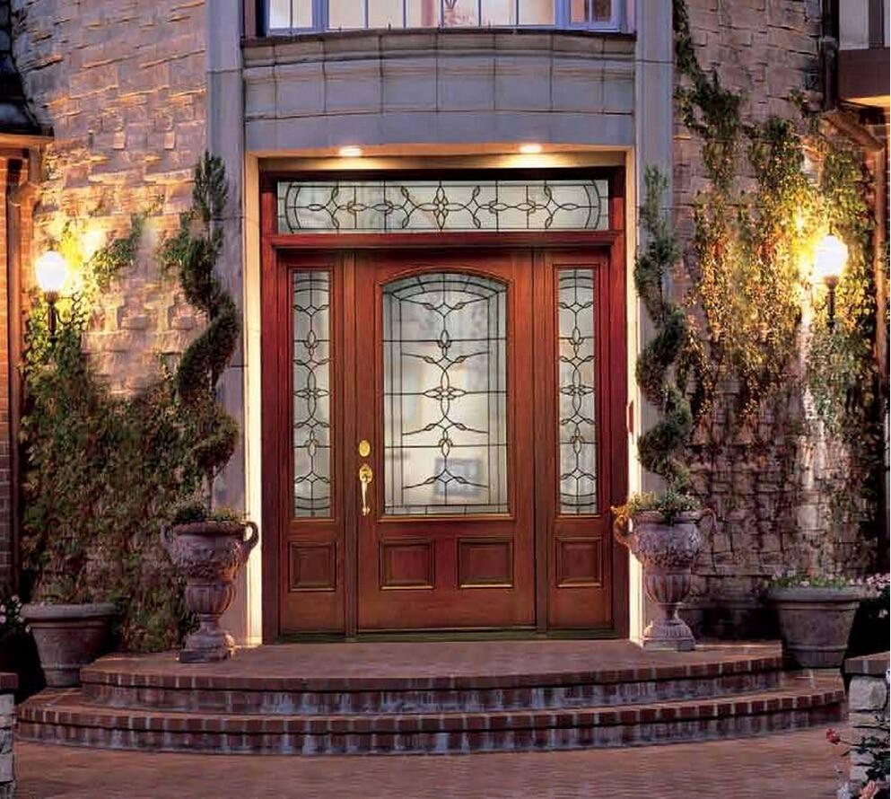 2017 Hot Sales New Design Highly Durable Solid Wood Doors Paint Grade Interior Wooden Door Entry Doors ID1606040