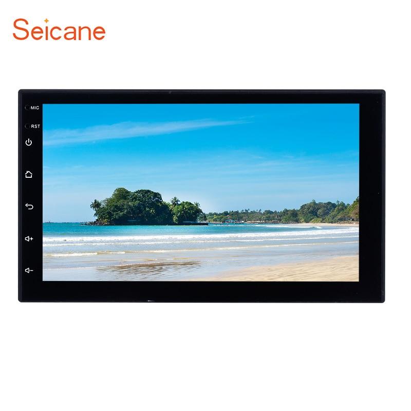 Seicane 2 Din 7 автомобильный мультимедийный плеер для KIA NISSAN SUZUKI TOYOTA hyundai VW HONDA Универсальный Bluetooth Сенсорный экран автомобиля радио