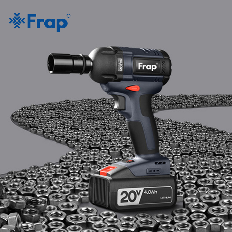 Frap New Impact Wrench Brushless Cordless Electric Wrench Power Tool 320N.m Torque Rechargeable Extra Battery Avaliable YHD919|Electric Wrenches| |  - title=