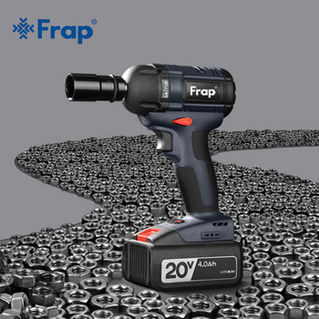 цена на Frap New Impact Wrench Brushless Cordless Electric Wrench Power Tool 320N.m Torque Rechargeable Extra Battery Avaliable YHD919