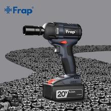 Frap llave de impacto inalámbrica sin escobillas herramienta eléctrica de torsión 320nm, recargable, batería Extra disponible YHD919