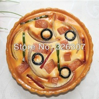 Customize artificial food model pizza high artificial food pizza model Simulation 6 inch dish pizza samples show high simulation