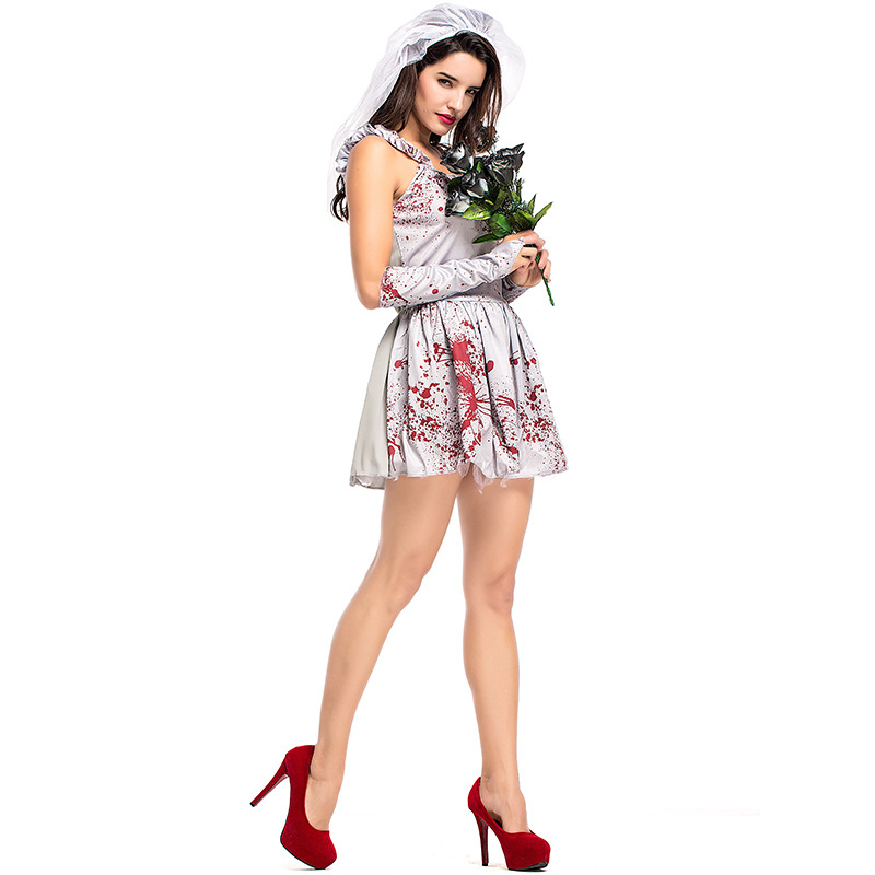 Umorden Halloween Costumes For Women Blood Scary Zombie Corpse Bride