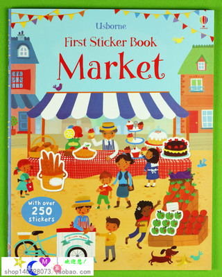 Market fist Sticker Book  children sticker books English children's picture book kelme