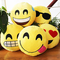 Free shipping 35*35 cm kawaii korea emoji QQ expression plush pillow cute plush toys for children birthday gift
