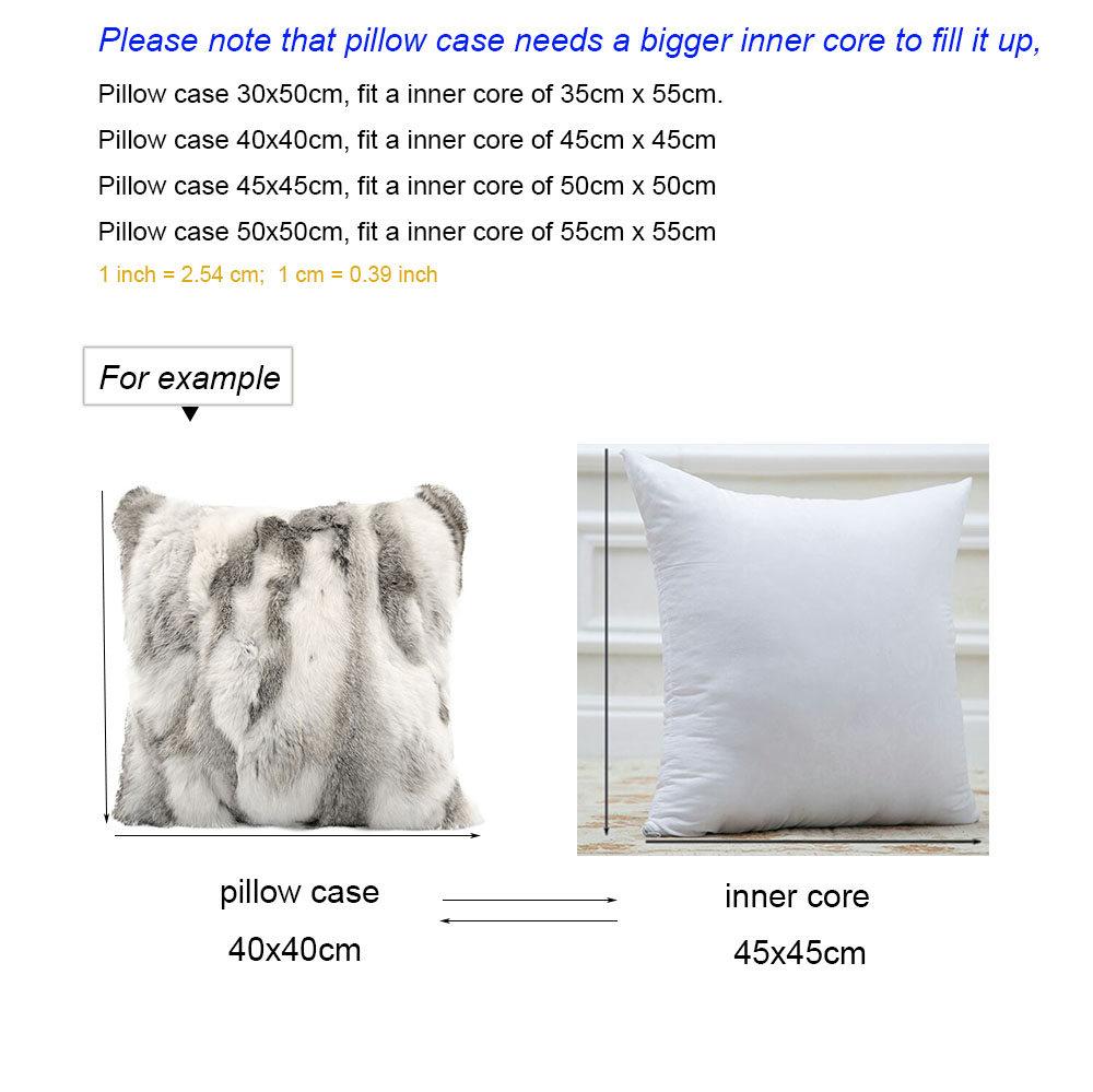 pillow case and core size