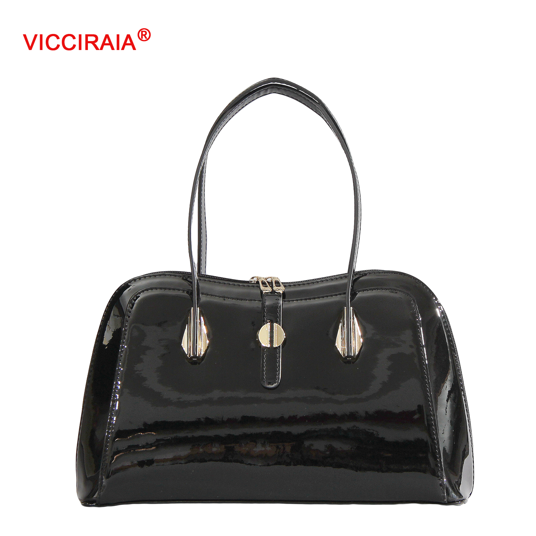 ФОТО VICCIRAIA New Smooth PU Leather Women Handbag Imitation Leather Lady Bags
