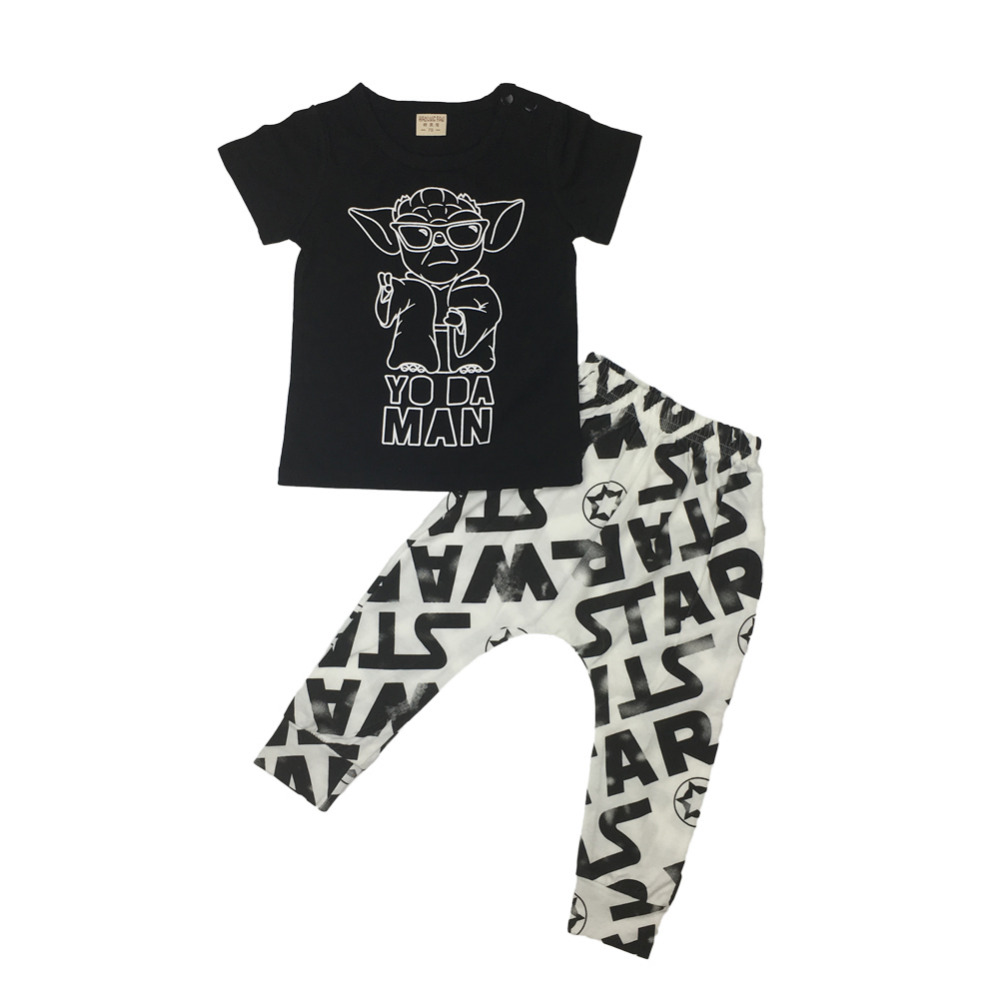 257e5bc54 Fashion 2017 summer baby boy clothes cotton short sleeve star wars t ...