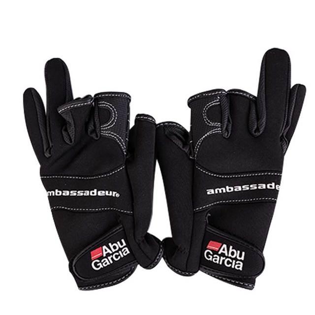 Ambassadeur Abi Garcia gloves for fishing three finger