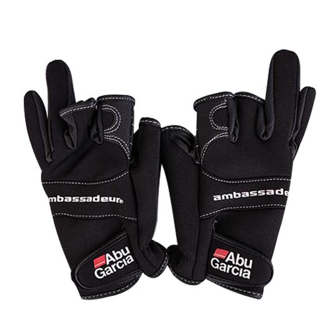 Кожаные перчатки для рыбалки перчатки три figner высокого качества Aub Garcia ткани удобные нескользящие рыболовные перчатки без пальцев
