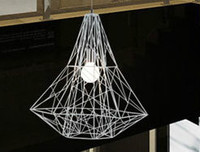 New! Wrought iron bird cage pendant light diamond modern brief E27 lamp holder apply in living room/bedroom