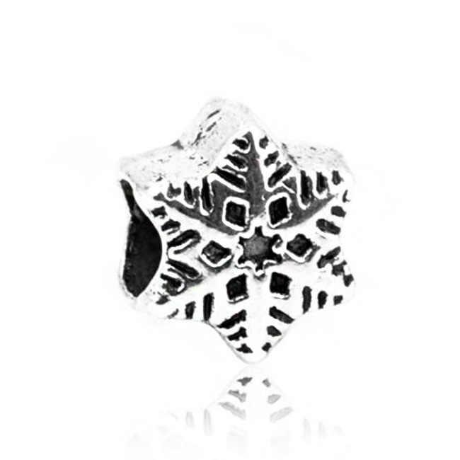 Btuamb シンプルなスタイル彫ラブハートスタークリスタルビーズフィットオリジナルパンドラチャームブレスレットネックレス女性 Diy のメイキングジュエリー