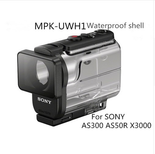 SONY Underwater MPK-UWH1 For SONY FDR-X3000 HDR-AS300 HDR-AS50 Waterproof Case UWH1
