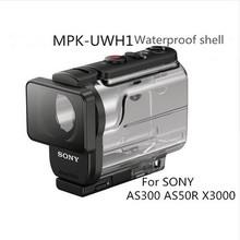 New SONY MPK-UWH1 Waterproof Underwater Case MPK-UWH1 For SONY FDR-X3000 HDR-AS300 HDR-AS50 waterproof case UWH1