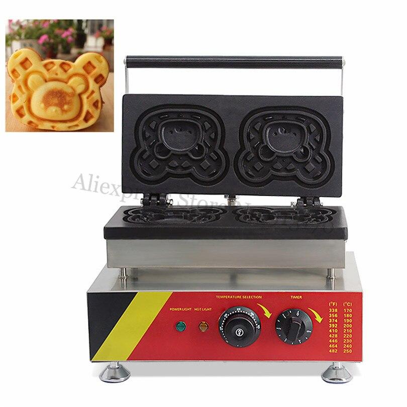 Little Bear Waffle Baker Maker Commercial Cartoon Rilakkuma Cake Machine Electric Heating Nonstick Cooking Surface кеды little lemon bear