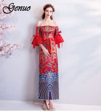 Genuo New 2019 Elegant embroidery mesh long dress Sexy floral sleeveless women Vest evening party summer female