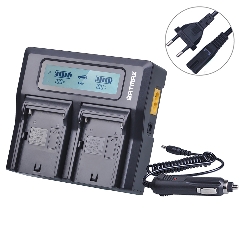 NP-FM50 NPFM50 FM50 LCD Rapid Dual Charger for Sony NP F770 F750 F570 F550 F530 NP F970 F960 F950 F930 NP-F970 FM500H dste np fm50 fm55h battery charger for sony f717 f828 s85 300k 3028 418e 96k d1000 camera