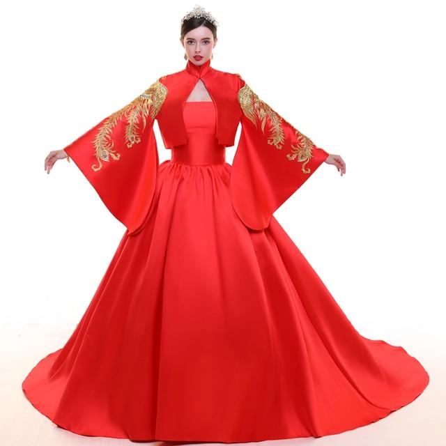 Aliexpress.com: Comprar Novia de Color Rojo Vestido de Novia Sexy ...