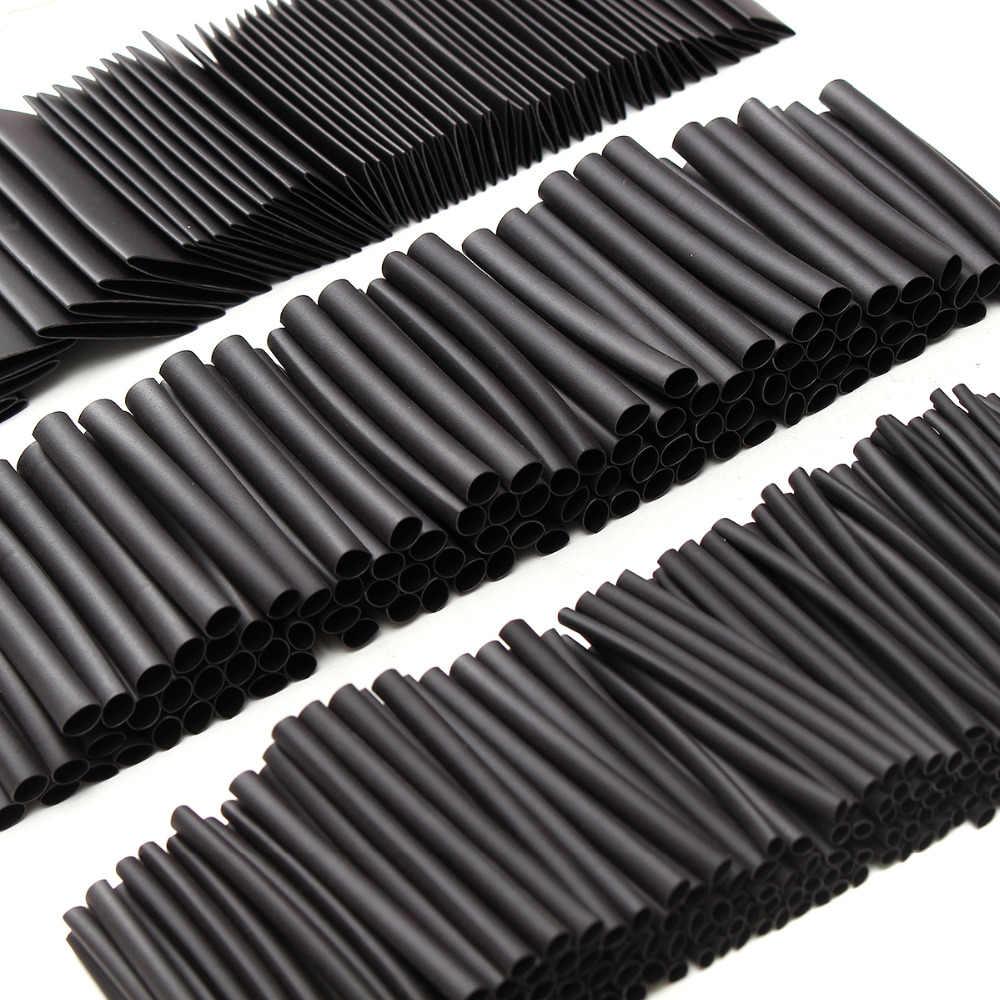 415 adet 60mm 2:1 poliolefin ısıyla daralan kablo ucu Kol HeatShrink Yalıtım Boru Sleeving Sarma Tel Kablo Kiti Siyah 415