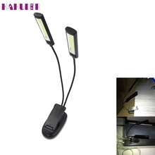 High Quality  Adjustable 2xCOB Flexible Clip Light Outdoor BBQ Lamp Reading Light Super Bright1.25