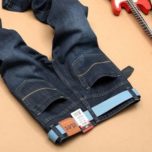 2016 Brand Men Jeans thick Winter autumn style jeans Slim Jeans new men's jeans style influx Dark blue man pants
