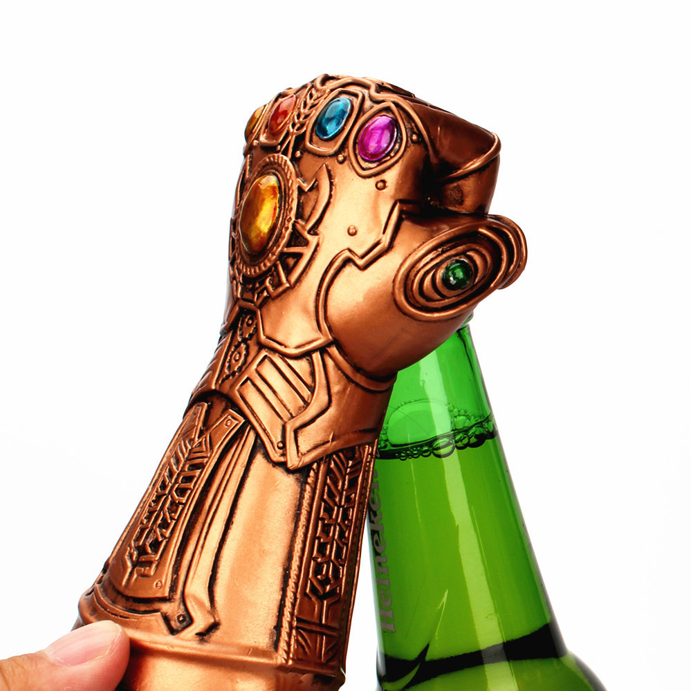 Infinity The Avengers Thanos Gauntlet Glove Thor hammer Beer Bottle Opener Useful Glass Cap Remover Tool Household in Openers from Home Garden