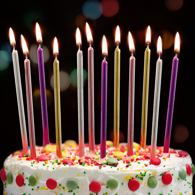 3 Pcs Lot Long Pencil Cake Candle Safe Flames Smokeless Kids Birthday Party Wedding