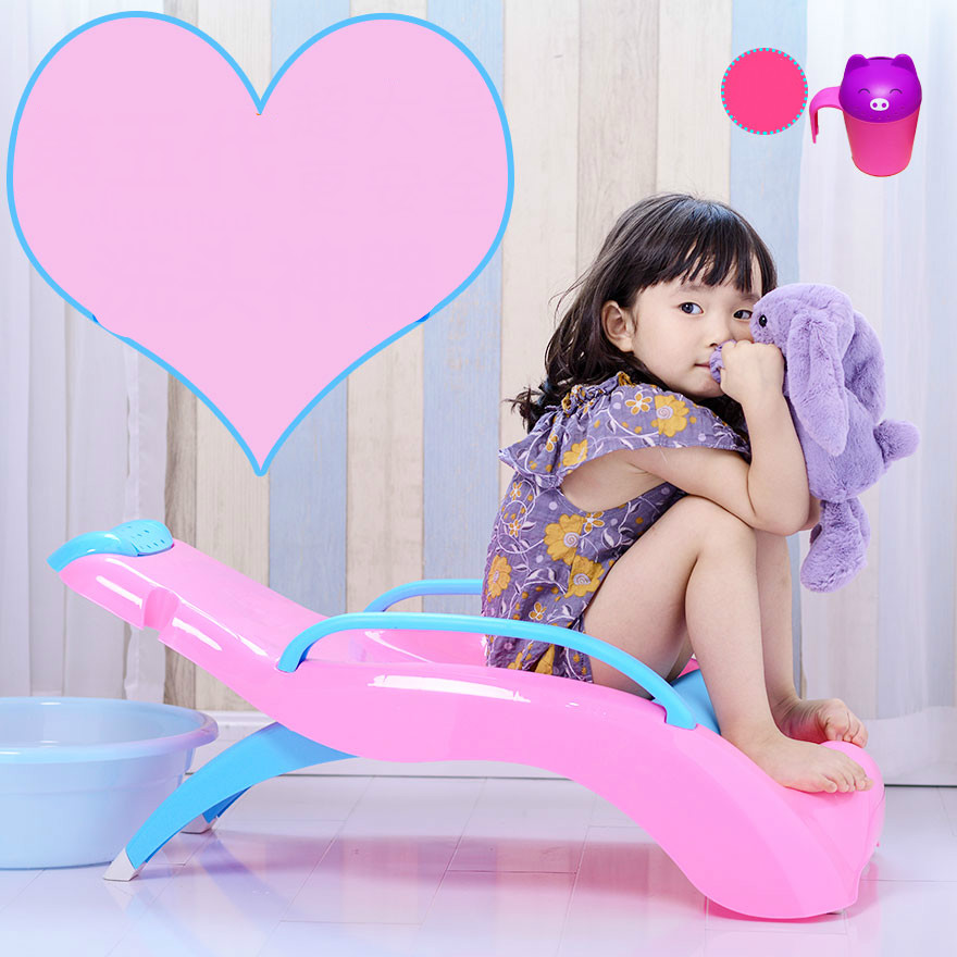 Children Shampoo Lounger Baby Shampoo Bed Shampoo Chair Thicker Foldable Child Shampoo Chair