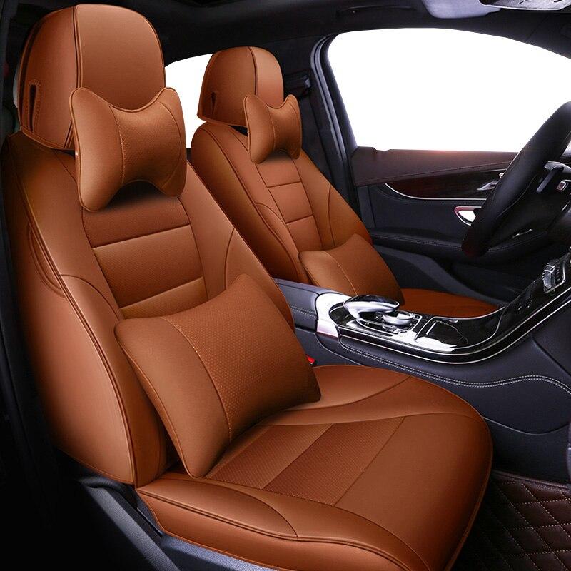 Авто универсальный натуральной кожи сиденья для subaru forester impreza xv outback автомобильные аксессуары Чехлы Стайлинг автомобиля стикер