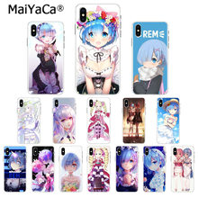 MaiYaCa anime zero rem Luxury Unique Design Phone Cover for Apple iPhone 8 7 6 6S Plus X XS MAX 5 5S SE XR Cover(China)